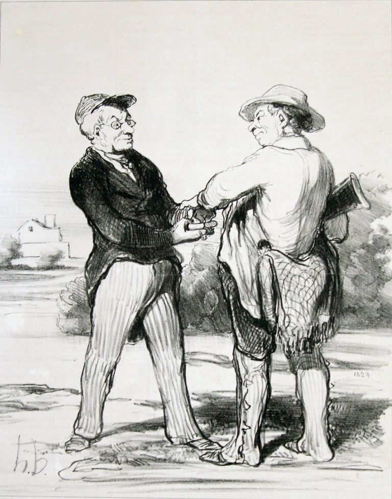Honoré Daumier Figurative Print - I tell you Mr President.... it is quite impossible to trap a hare this year