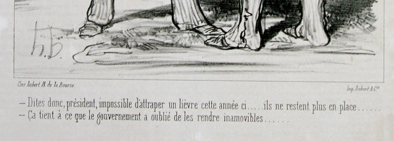 I tell you Mr President.... it is quite impossible to trap a hare this year - Old Masters Print by Honoré Daumier