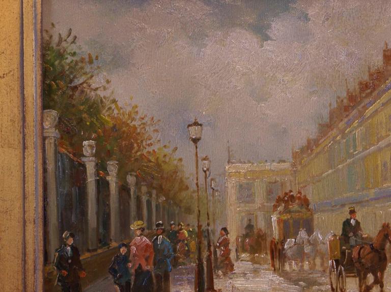 Rue de Rivoli, Paris - Painting by T.E. Pencke