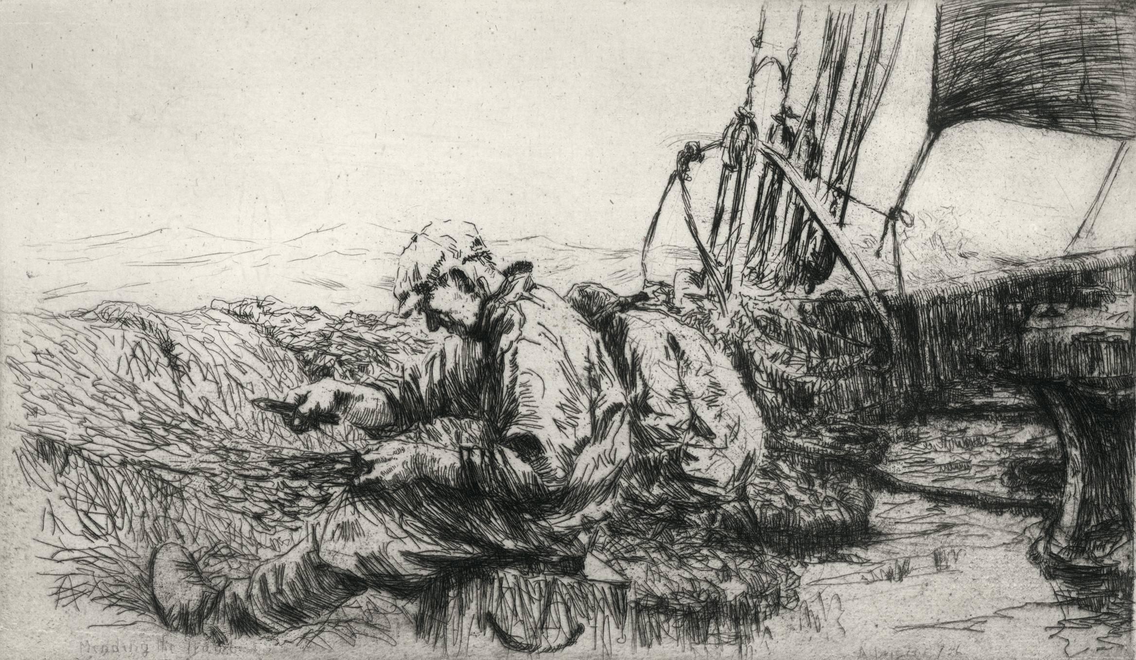Mending the Trawl, plate 3.
