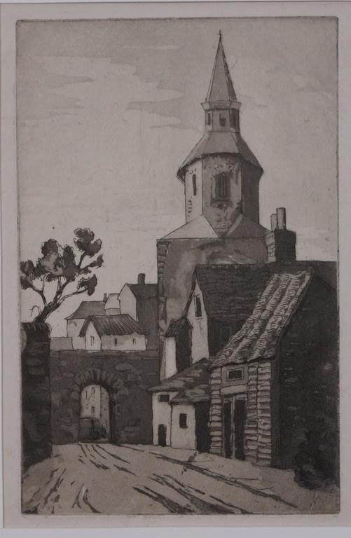 Malcesine Church, Italy - Print by Isabel Beatrice Mesham