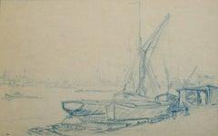 Barge Along the Thames