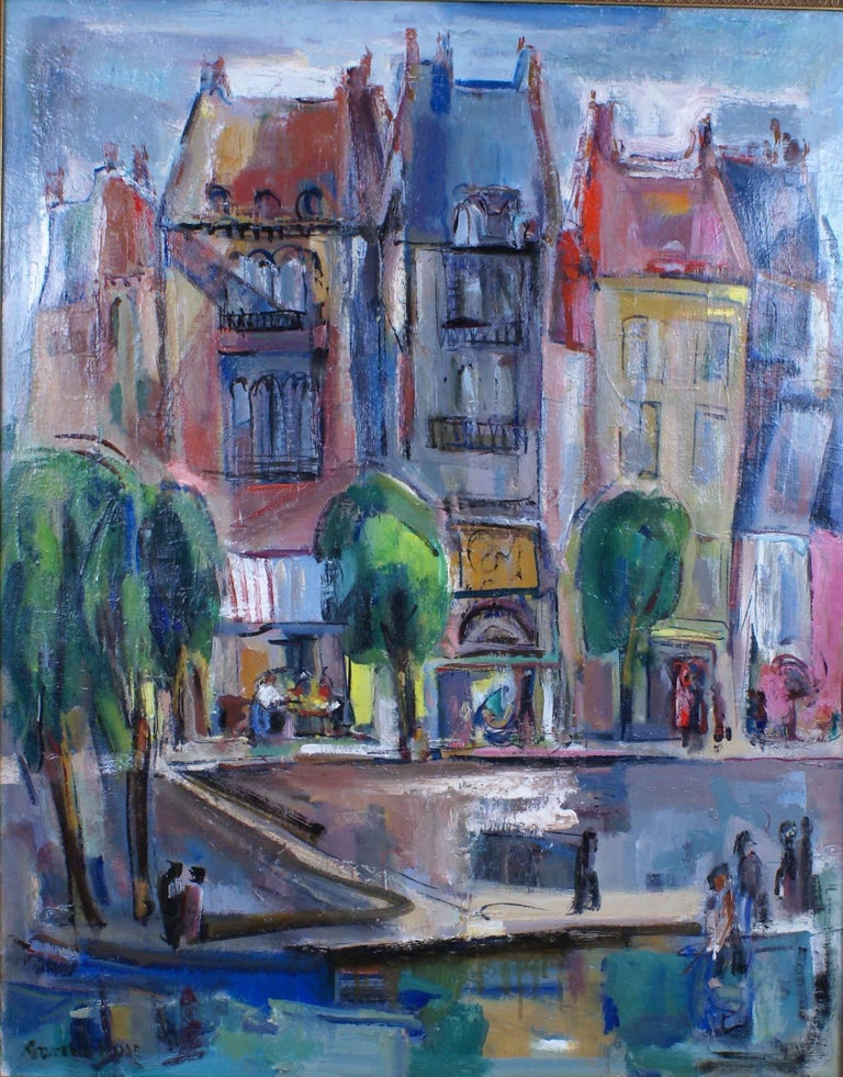 Along the Quai - Painting by Marion Huse