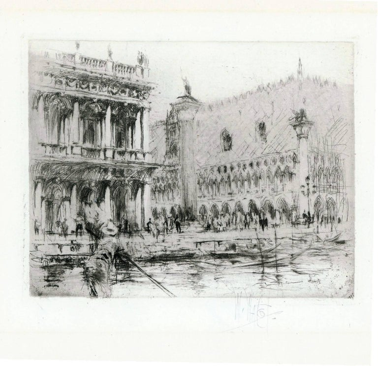 The Piazza San Marco, Venice. - Print by William Walcot, R.E., Hon.R.I.B.A.