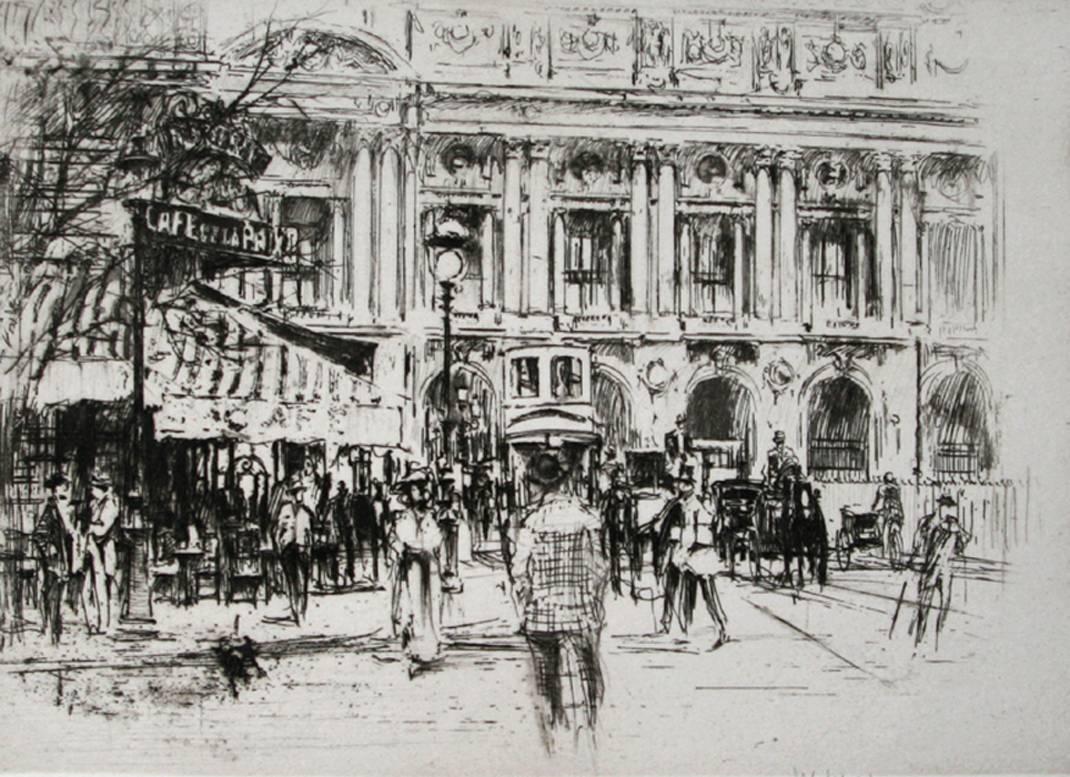 Café de la Paix, place de l'Opéra, Paris.