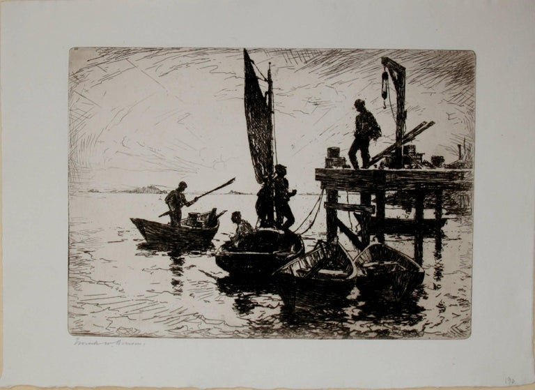 Boats at Dawn - Print by Frank Weston Benson