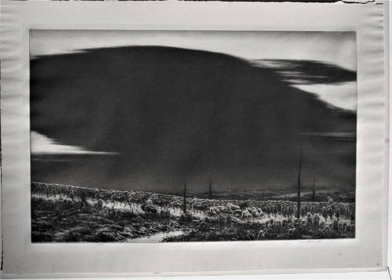 September 13, 1918. St. Mihiel [The Great Black Cloud]. - American Modern Print by Kerr Eby, N.A.