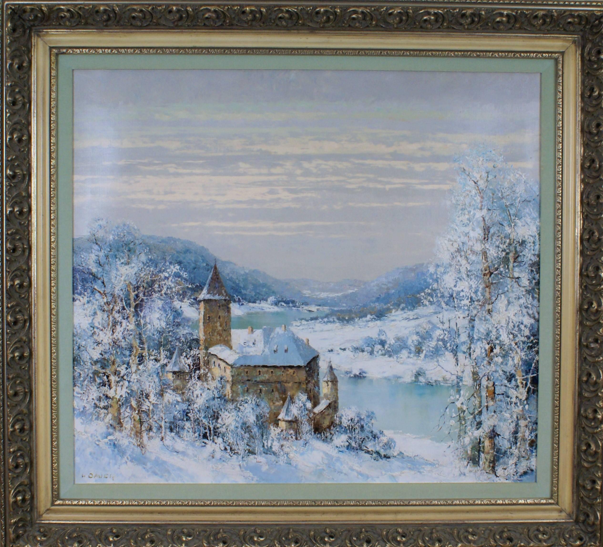 { Winter Scene with Castle}