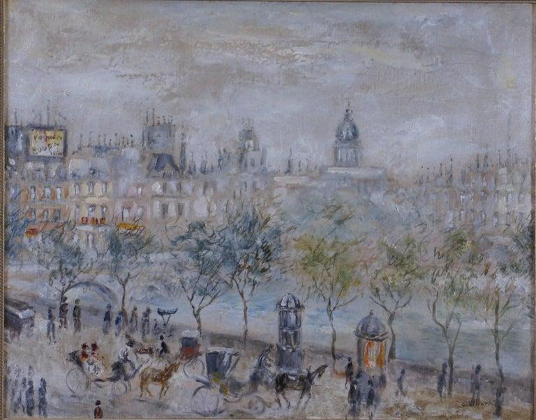 {View of Paris} - Painting by Cesar A. Villacres