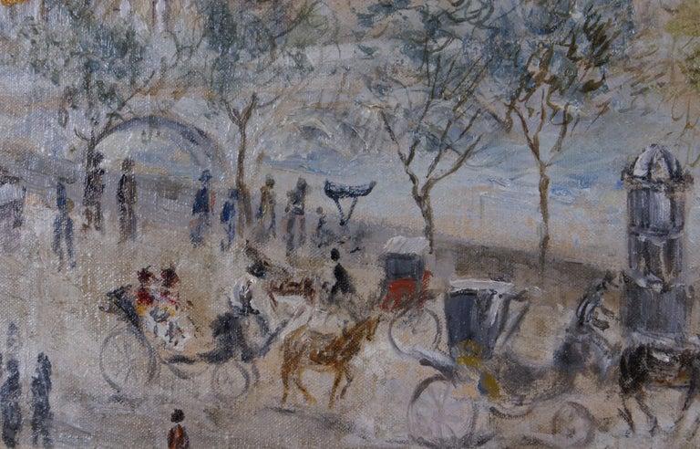 {View of Paris} - Impressionist Painting by Cesar A. Villacres