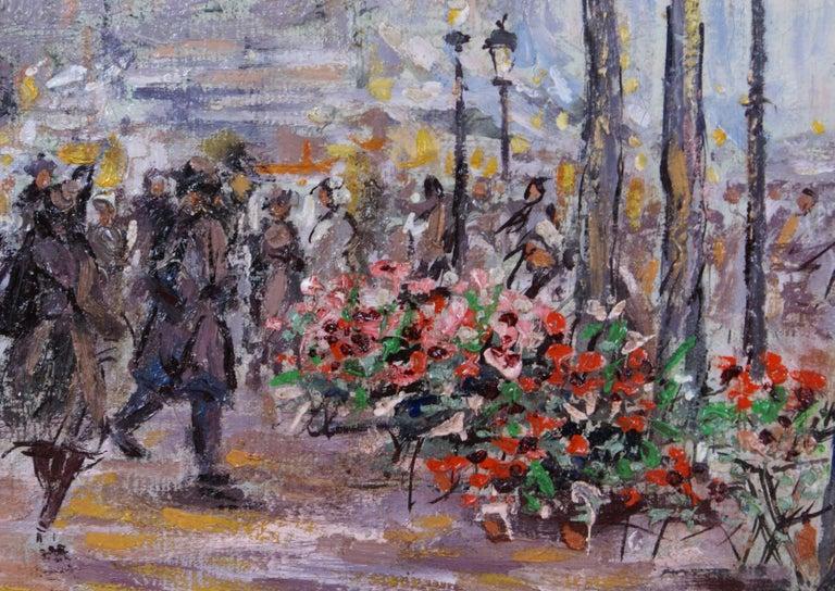 {Parisian Scene} - Impressionist Painting by Cesar A. Villacres