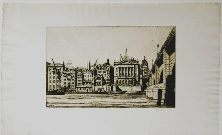 Ian Strang Figurative Print - Fishmonger's Hall, London