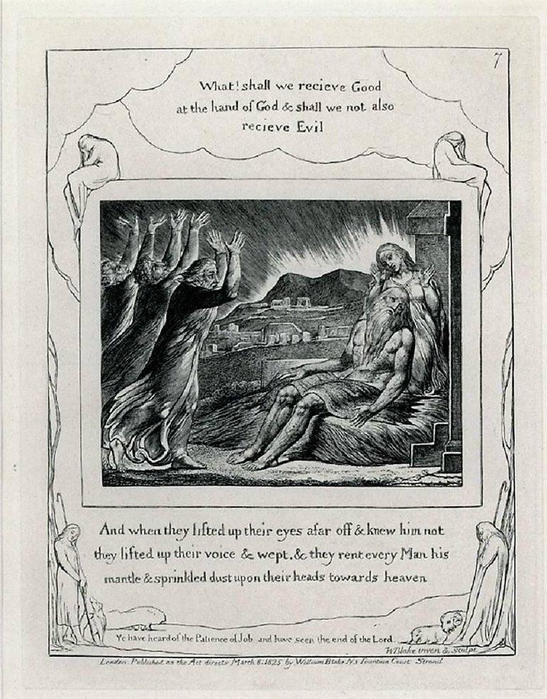 William Blake Portrait Print - Job's Comforters