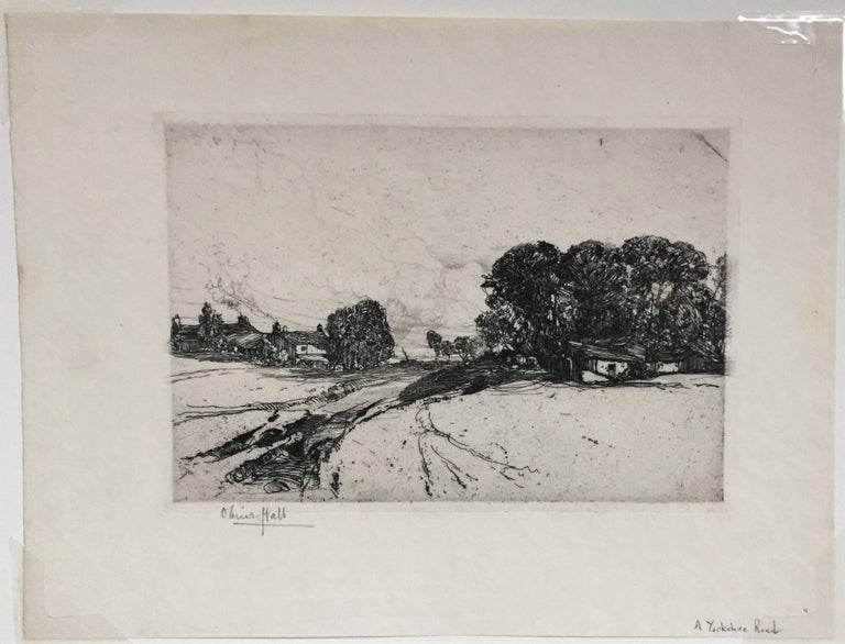 Oliver Hall R A R E R S W A Yorkshire Road Print