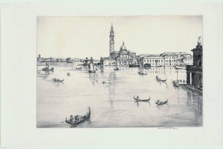 San Giorgio, Maggiore, Venice.  - Print by Kenneth Holmes, A.R.C.A.