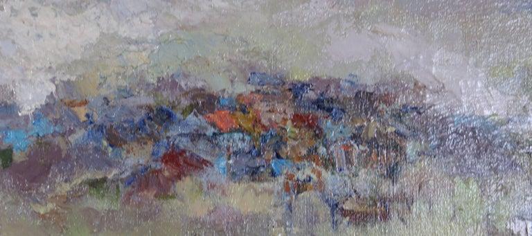 Spring - Gray Landscape Painting by Armando Sozio