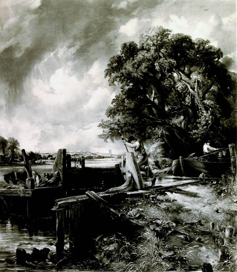 John Constable Landscape Print - The Lock – Large Plate