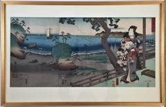 Prince Genji in Exile at Suma.