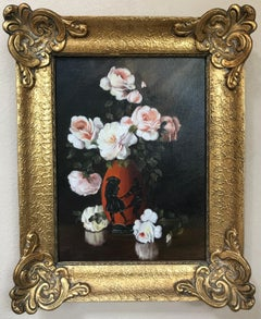 Floral Still Life of Pink Roses
