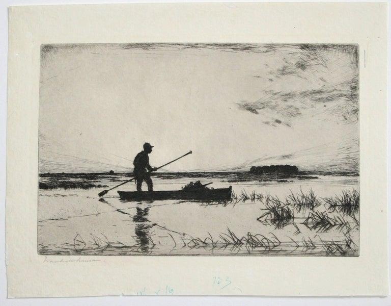 The Punter. - Print by Frank Weston Benson