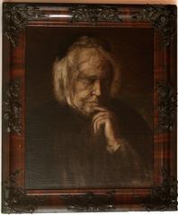 Visage de Marguerite en grisaille. Esquisse. (Portrait of [the Artist's Mother,]