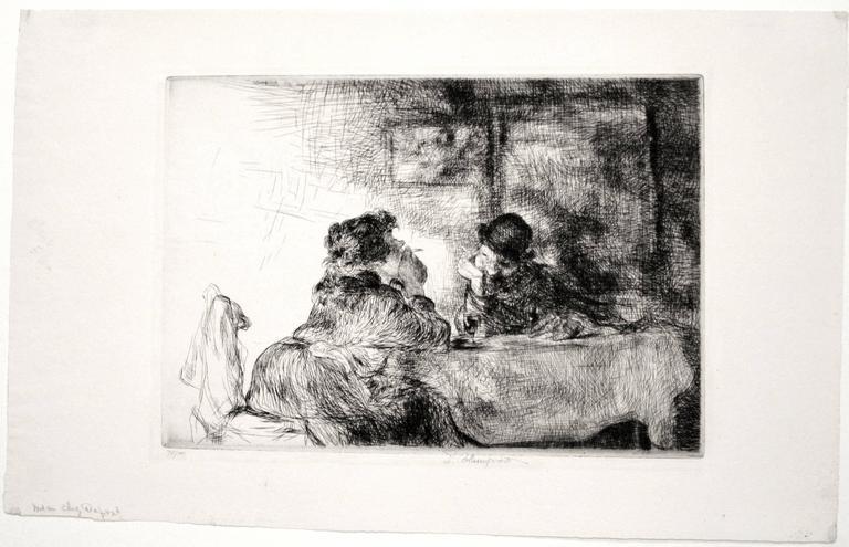Chez Madame Dupont - Print by Edmund Blampied