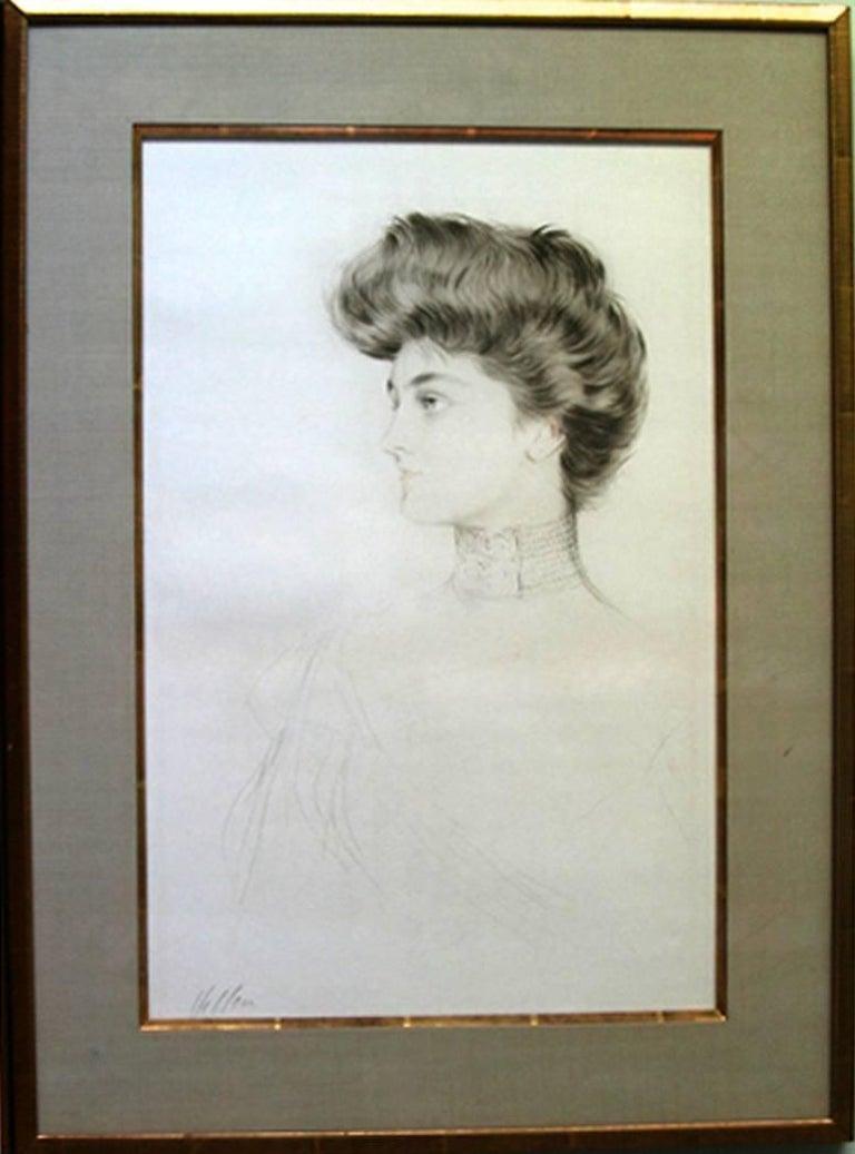 Paul César Helleu Portrait Print - Alexandra of Denmark, Queen of England.
