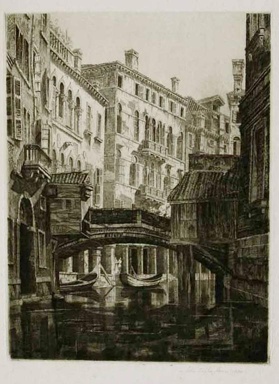 Rio del Santi Apostoli, Venice.  - Print by John Taylor Arms