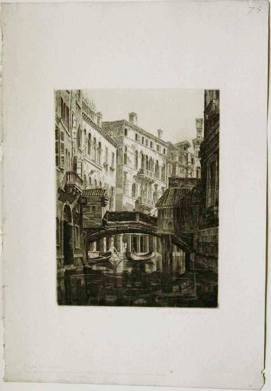 Rio del Santi Apostoli, Venice.  - American Modern Print by John Taylor Arms