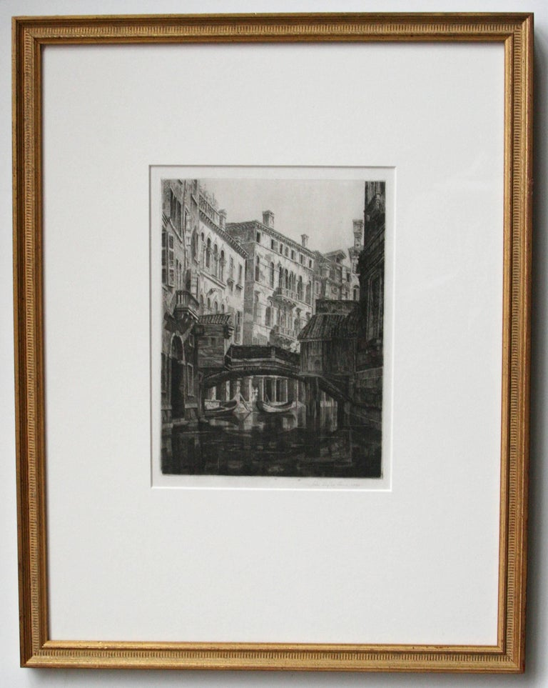 John Taylor Arms Landscape Print - Rio del Santi Apostoli, Venice.