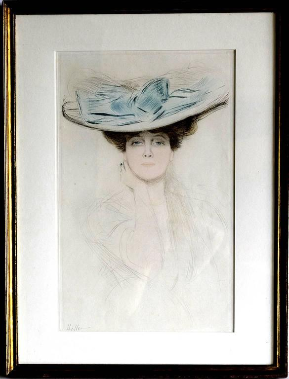 Paul César Helleu - Le Noeud Bleu (The Hat with the Blue Bow). 1