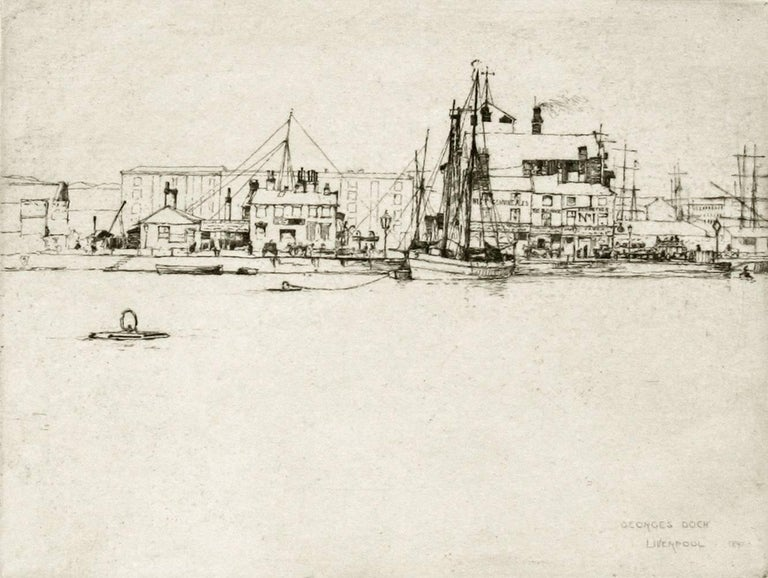 Sir frank short george 39 s dock liverpool print for sale at 1stdibs for St mary redcliffe swimming pool