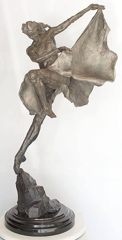 Larry Schueckler Figurative Sculpture - Menil Park