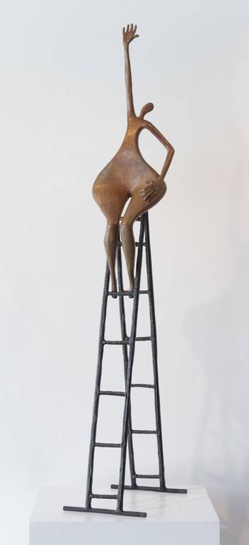 Tolla Inbar Figurative Sculpture - Reaching Out
