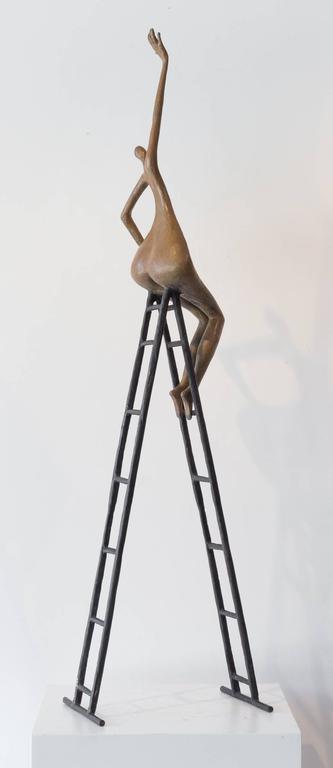 Reaching Out - Sculpture by Tolla Inbar