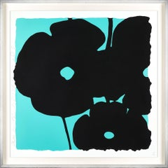 Reversal Poppies (Aqua And Black)