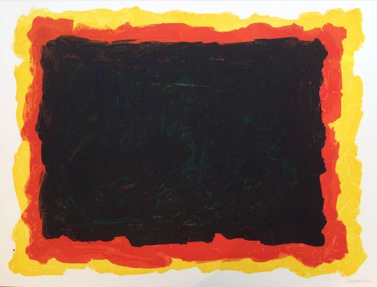 Sol LeWitt Abstract Print - Irregular Red Yellow+Blue