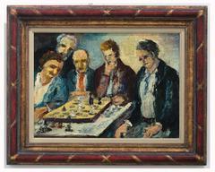 Rudolf Raimund Ballabene - Game of Chess, 1950s