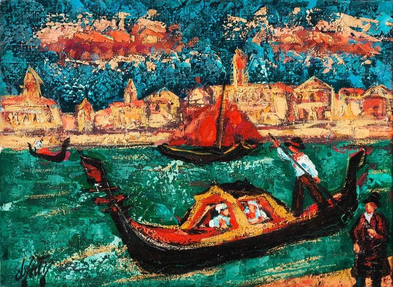 Henri d'Anty Landscape Painting - 'Grand Canal, Venice', School of Paris, Musee D'Orsay, Toulouse-Lautrec Museum