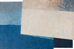 Luminous Sea   (Abstraction, Abstract, Woman Artist, California, Blue, Cream)