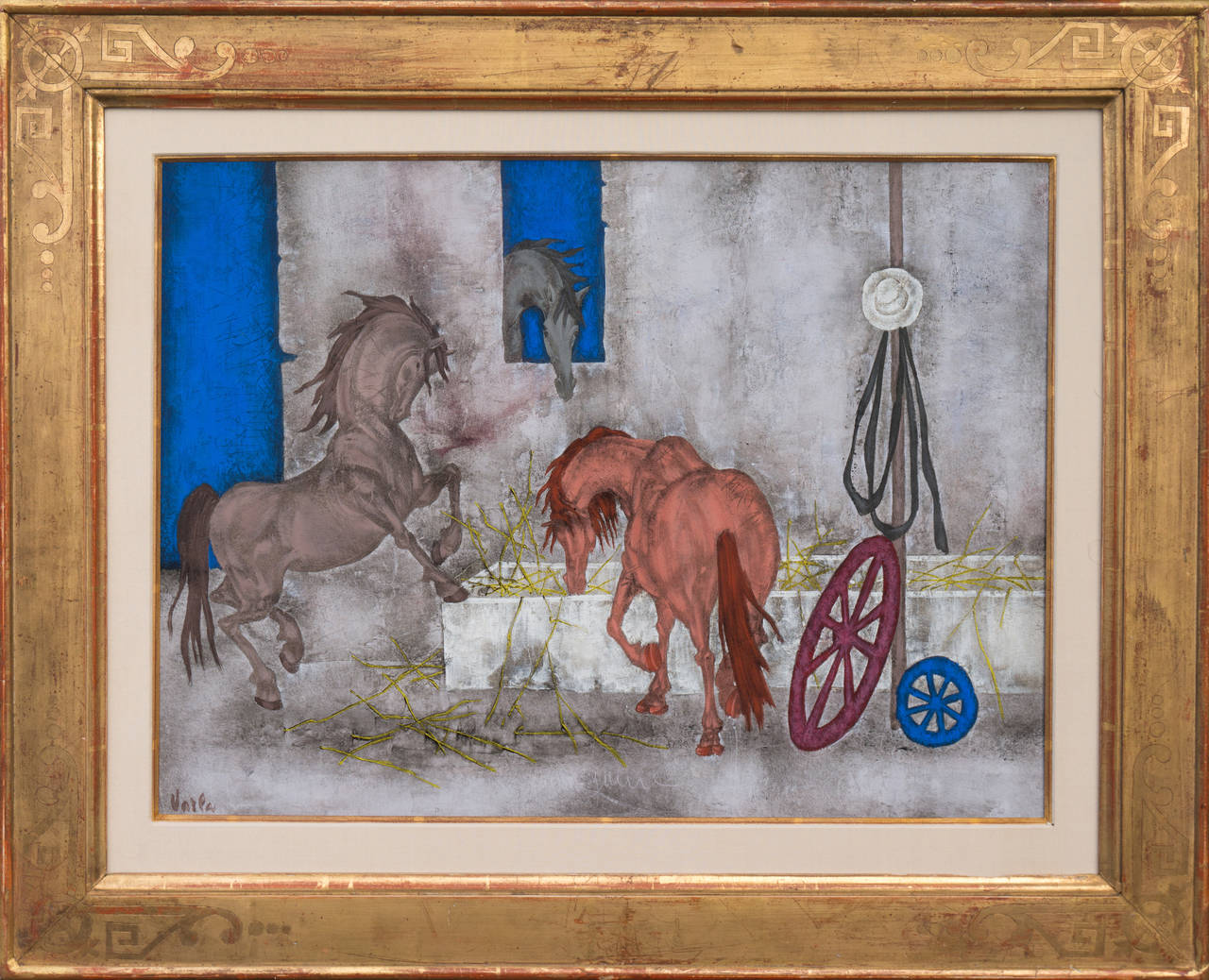 Horses in a Stable 1