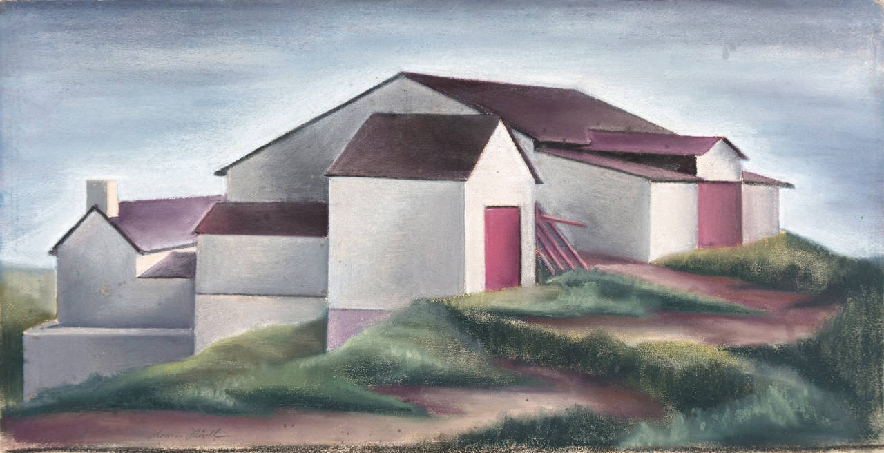 Thomas Flavell Landscape Painting - White Barn