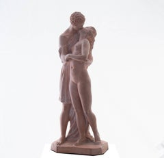 'The Kiss', Petit Palais, Paris, Neo-classical Terracotta Figurative Statue