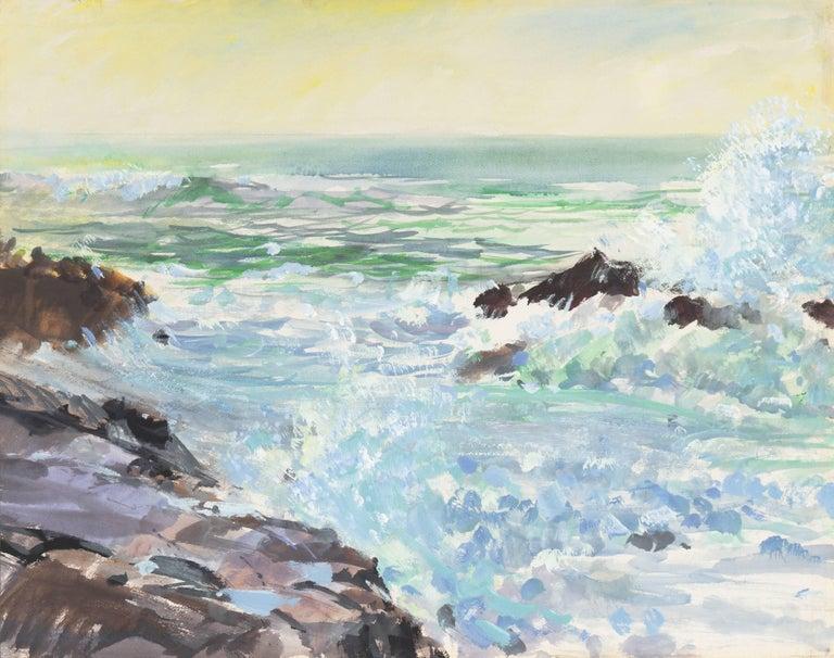 Richard Gabriel Chase Landscape Painting - 'Breaking Surf, San Diego', Worcester Art Museum School, San Bernadino College