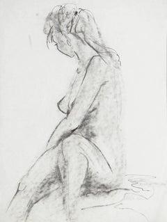 'Seated Nude', graphite study
