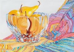 'Still Life of Boscobel Pears', Post-Impressionist, Marin, California