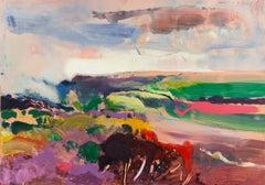 Evening Landscape   (Post-Impressionist, Monterey, California, Large)