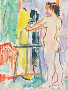 California Post-Impressionist 'Nude', Louvre, LACMA, Académie Chaumière