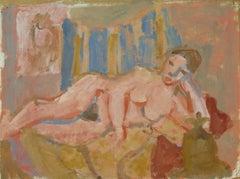California Post-Impressionist Oil 'Reclining Nude' LACMA, Académie Chaumière