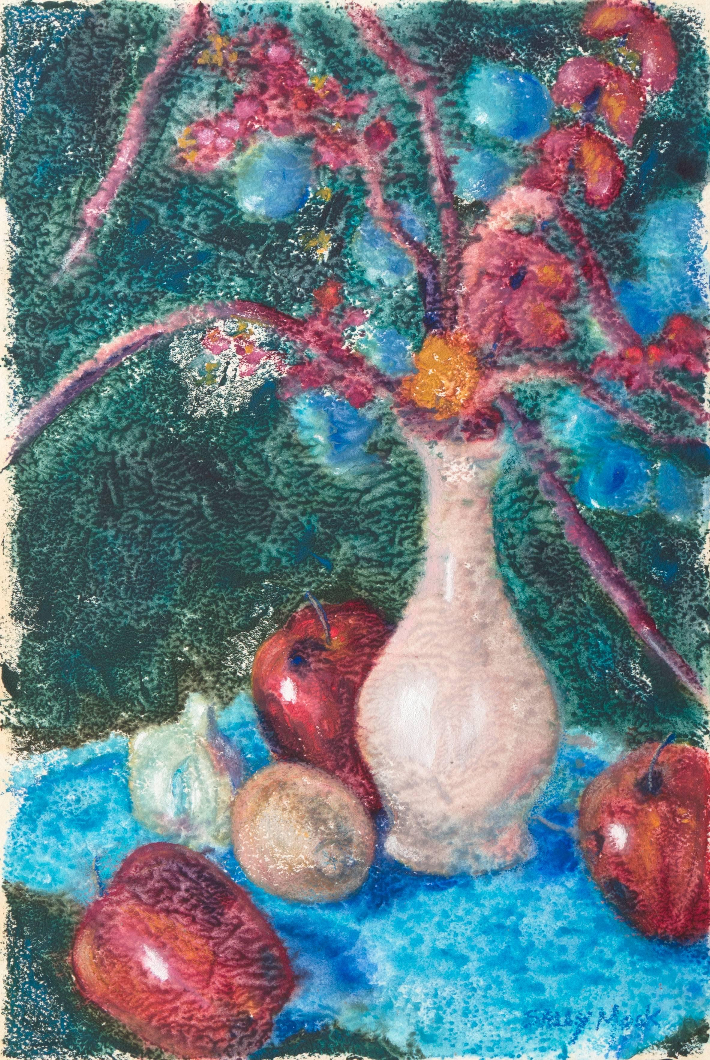 'Apples and Cherry Blossoms', Modernist Still Life